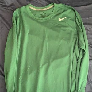 Green long sleeve dry fit Nike